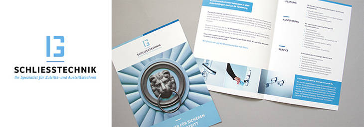 Corporate Design und Flyer IG Schliesstechnik